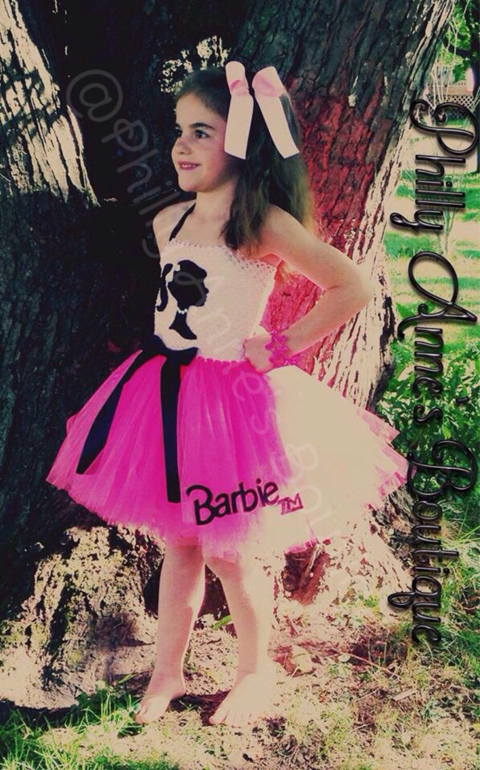 Barbie silhoutte Tutu Dress, girls birthday outfit, halloween ...