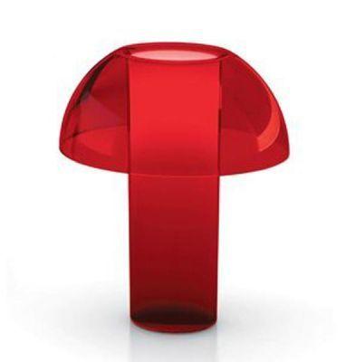 Lampe De Table Colette L Rouge Transparent Www Amateurdedesign Com Lampes De Table Lampe De Table Design Deco Rouge