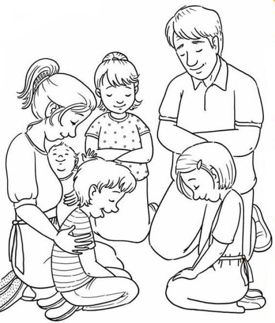 Resultado de imagem para familia orando para pintar | ensinamentos ...