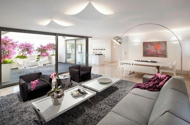 raumideen für modernes wohnzimmer-sitzgarnitur im stil mid-century, Mobel ideea