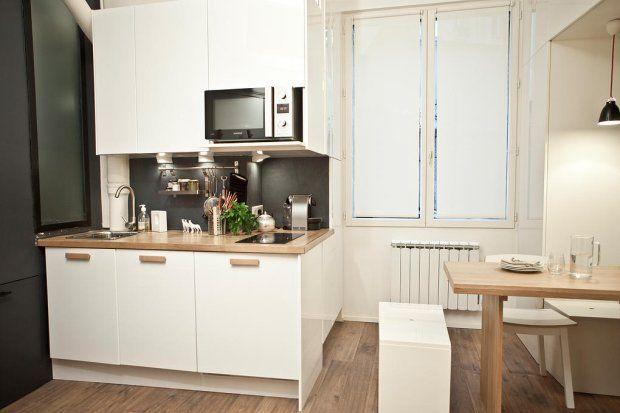 Zdjecie Nr 2 W Galerii Kawalerka W Wersji Mikro To Mieszkanie Ma Tylko 18 M Kw Apartment Interior Studio Kitchen Kitchen Design