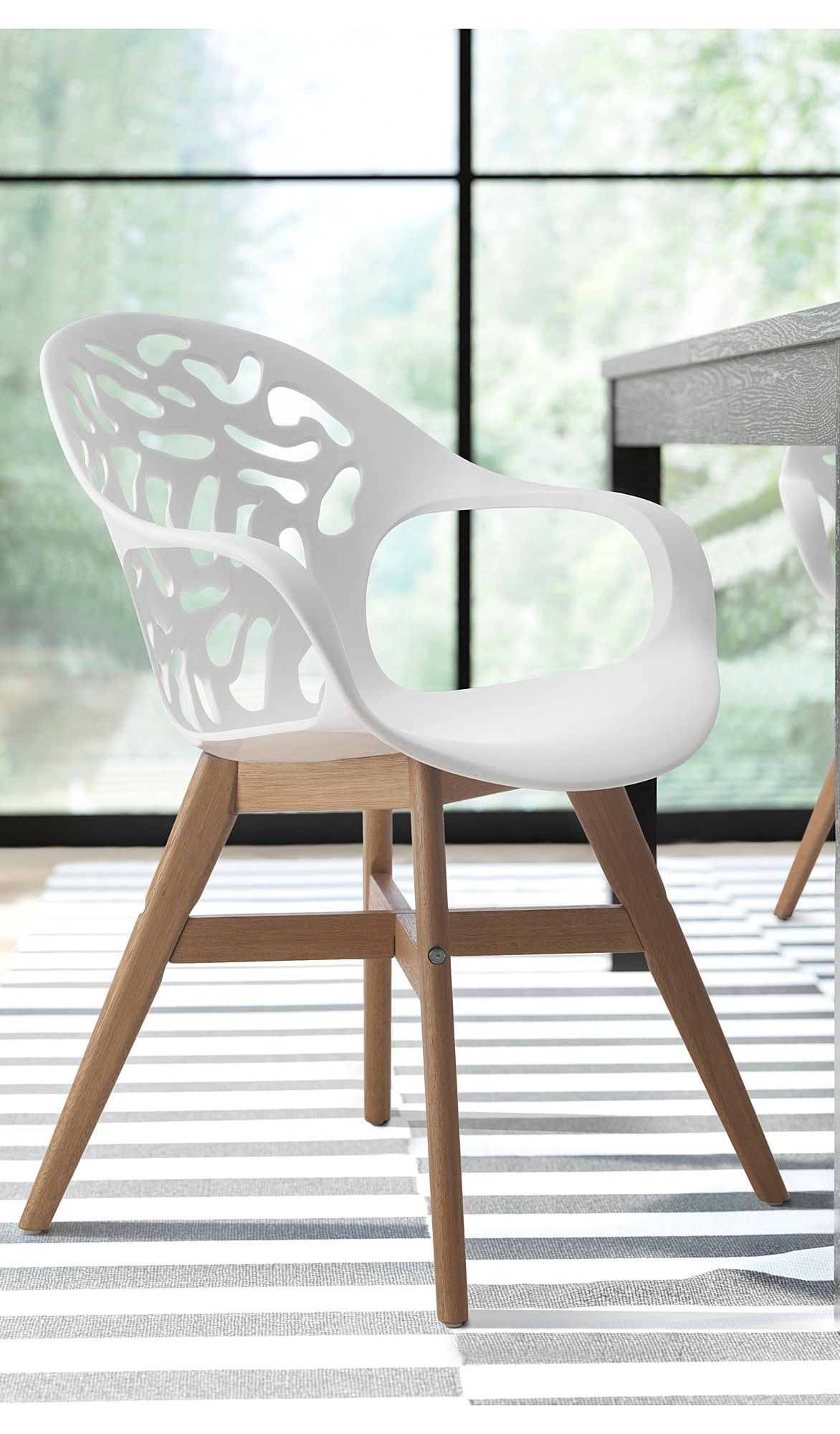 ANGRIM Chair white patterned (With images) Ikea chair