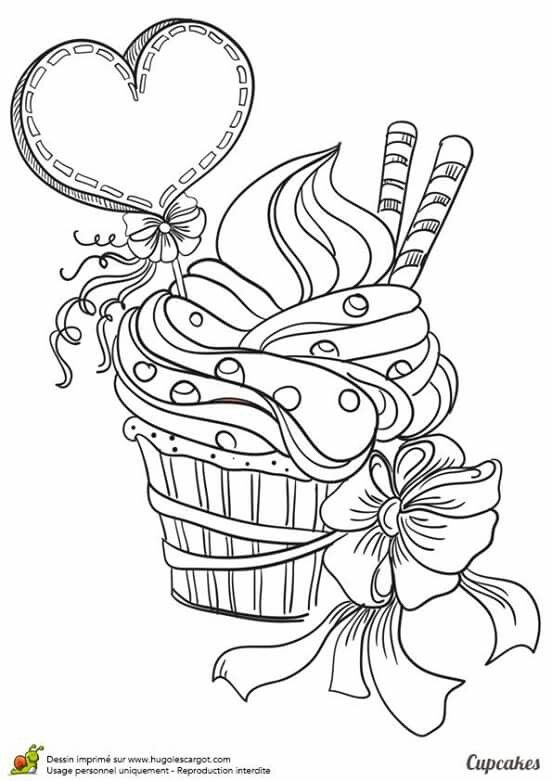 Colorir Valentines Day Coloring Page Cupcake Coloring Pages Heart Coloring Pages