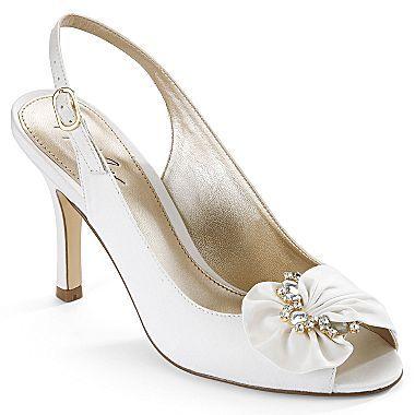 Jcp Jacqueline Ferrar Abigail Peep Toe Slingbacks Bridesmaid Shoes Slingback Peep Toe