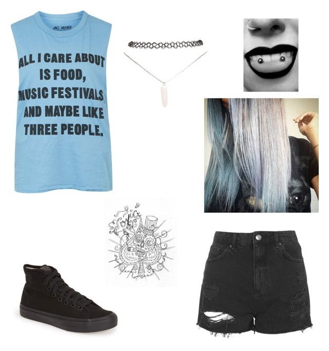 """""""Untitled #375"""" by hummingbirdgrl ❤ liked on Polyvore featuring Topshop, Wet Seal and Vans"""