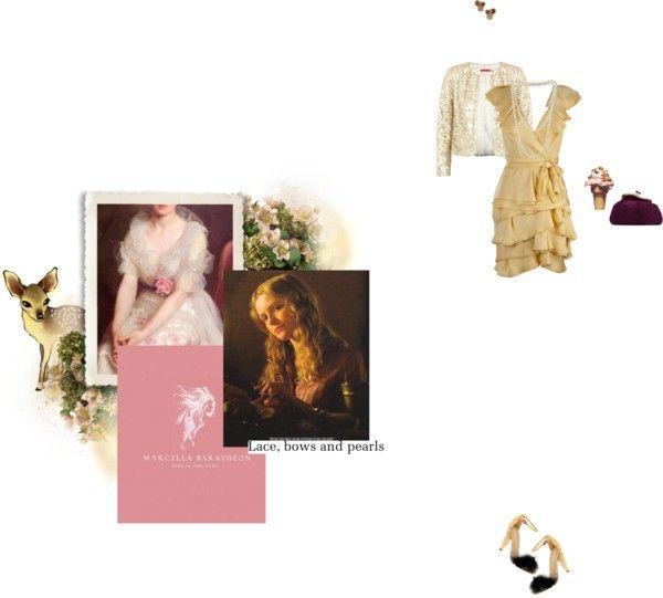 """28. D) House Baratheon -- Myrcella Baratheon"" by girloverboard ❤ liked on Polyvore"