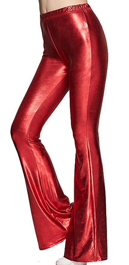 079541b5884a2f YUNY Womens Sexy Shiny Slim Fit High Waist Bell Bottom Flare Pants at Amazon  Women's Clothing store: