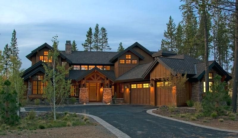 One Story Stone House Plans Rustic Mountain Home Lodge Type Craftsman Style House Plans Craftsman House Plans Modern Style House Plans