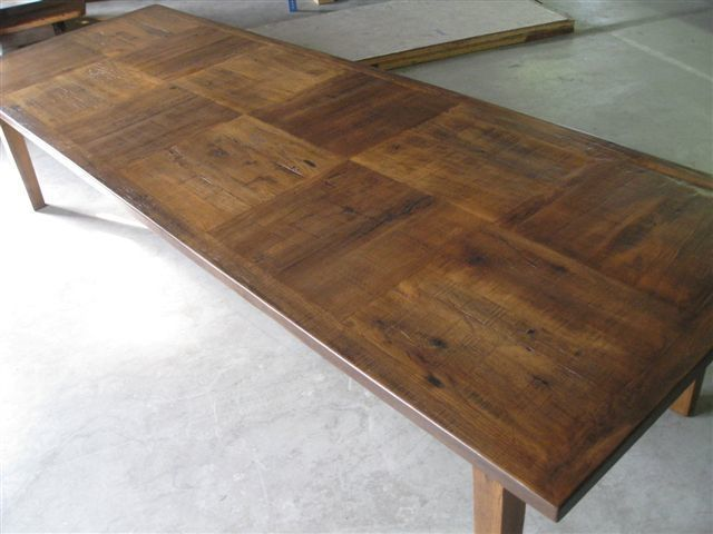Custom Made 12 Foot Dining Table With Square
