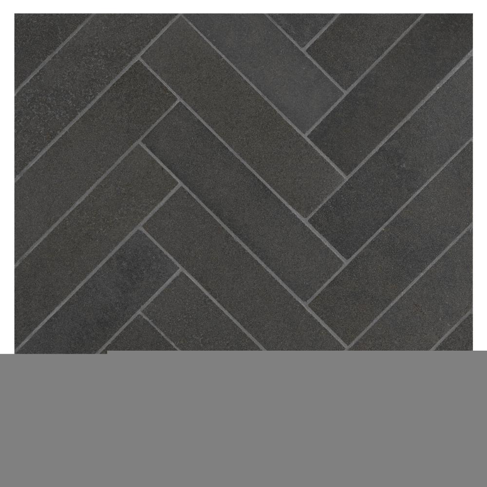 Deep Basalt Herringbone Harmony 1 1 2 X 6 Micro Joint Mosaic Basalt Tile Basalt Mosaic
