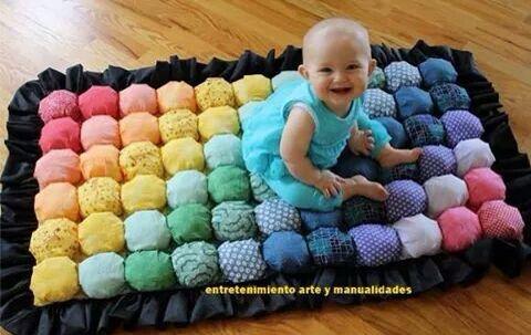 Manta Didáctica Diy Baby Shower Gifts Bubble Quilt Diy Baby Blanket