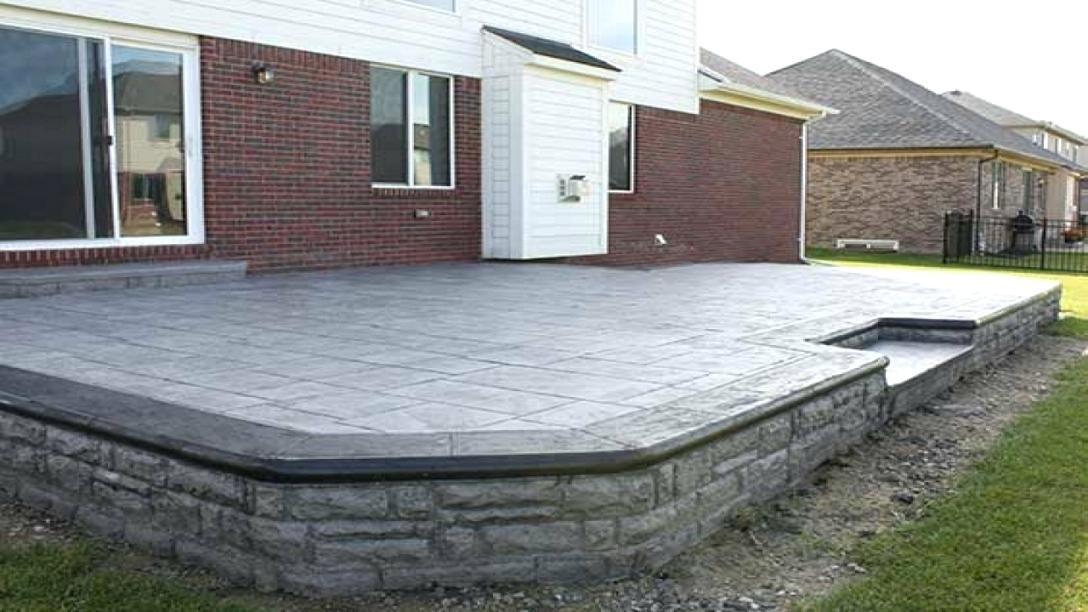 Image Result For Pictures Of Elevated Concrete Patio In Backyard
