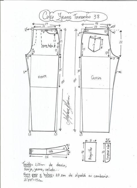 Patrón de pantalones vaqueros | couture | Pinterest | Cintura ...