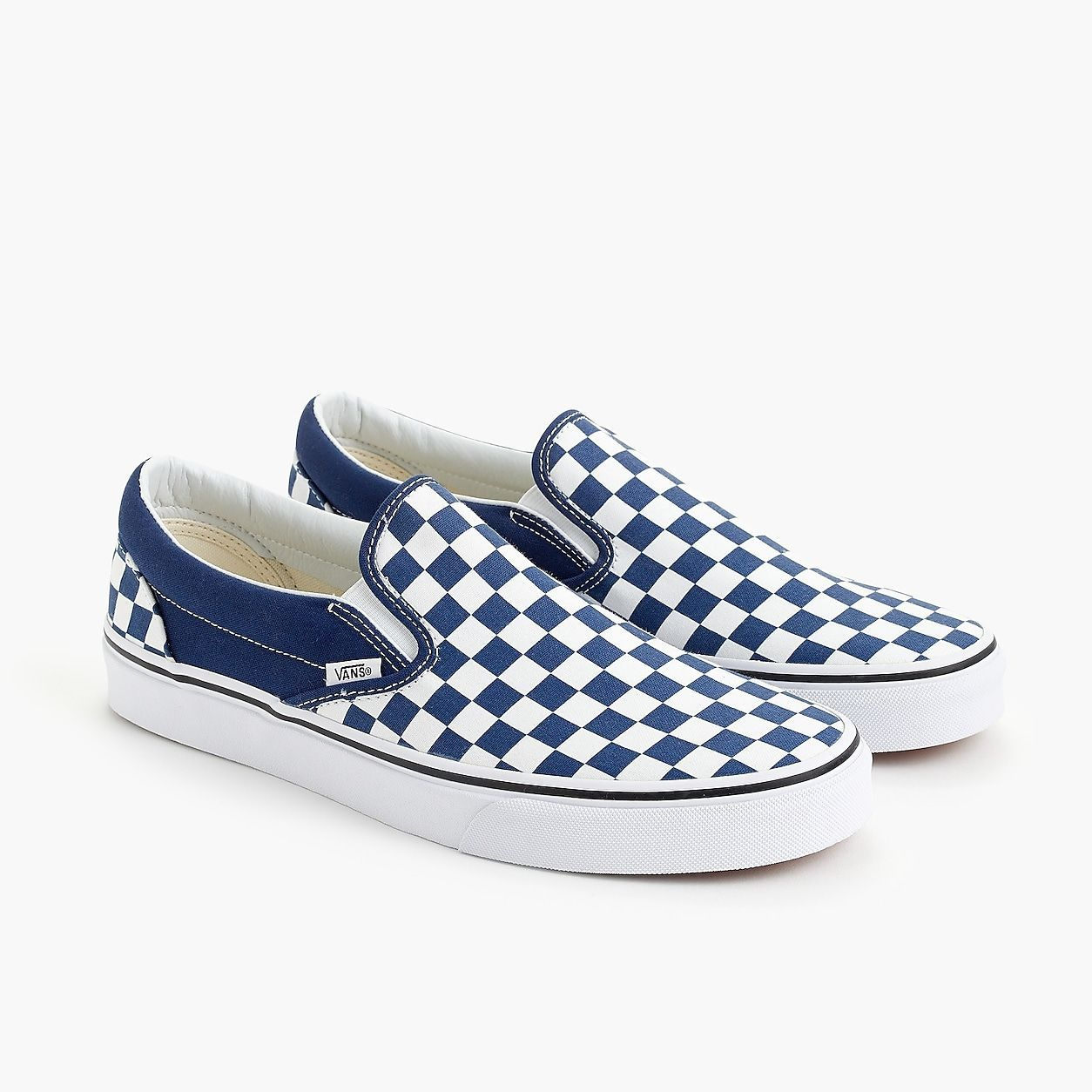 Vans Slip-On Sneakers In Blue Checkerboard #women ...