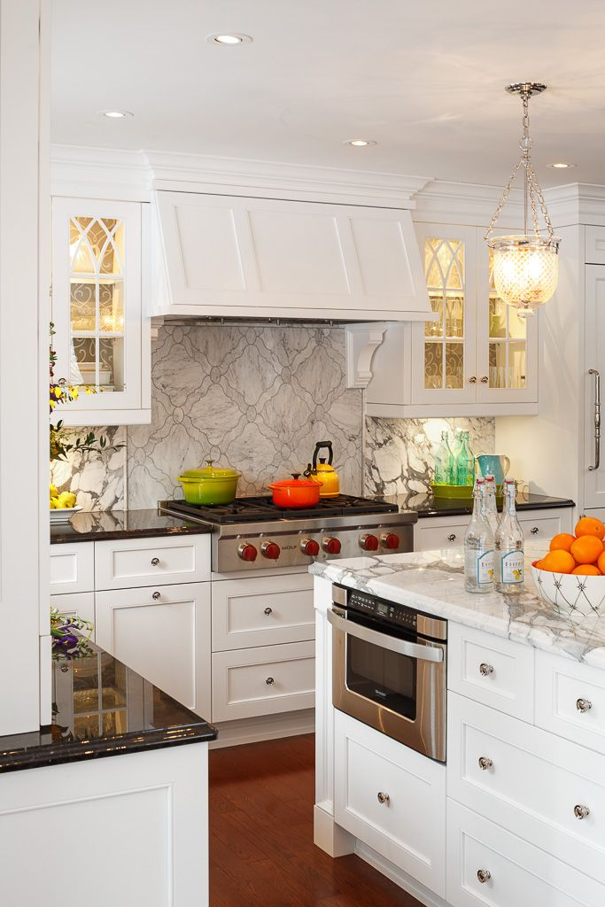White kitchens never get old, we just love this design! Designed by ...