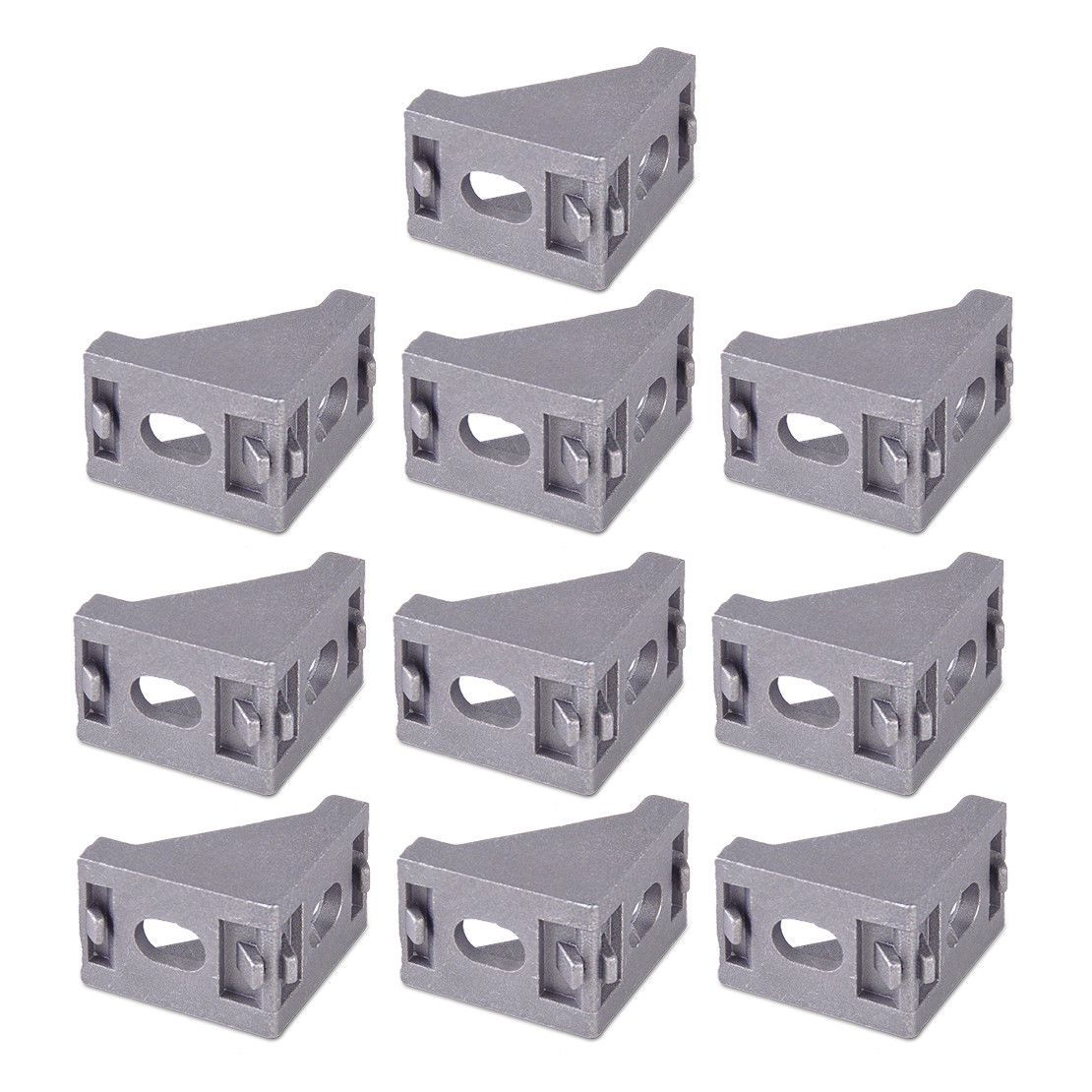 10Pcs Aluminum L Shape Corner Brace Joint Right Angle Shelf