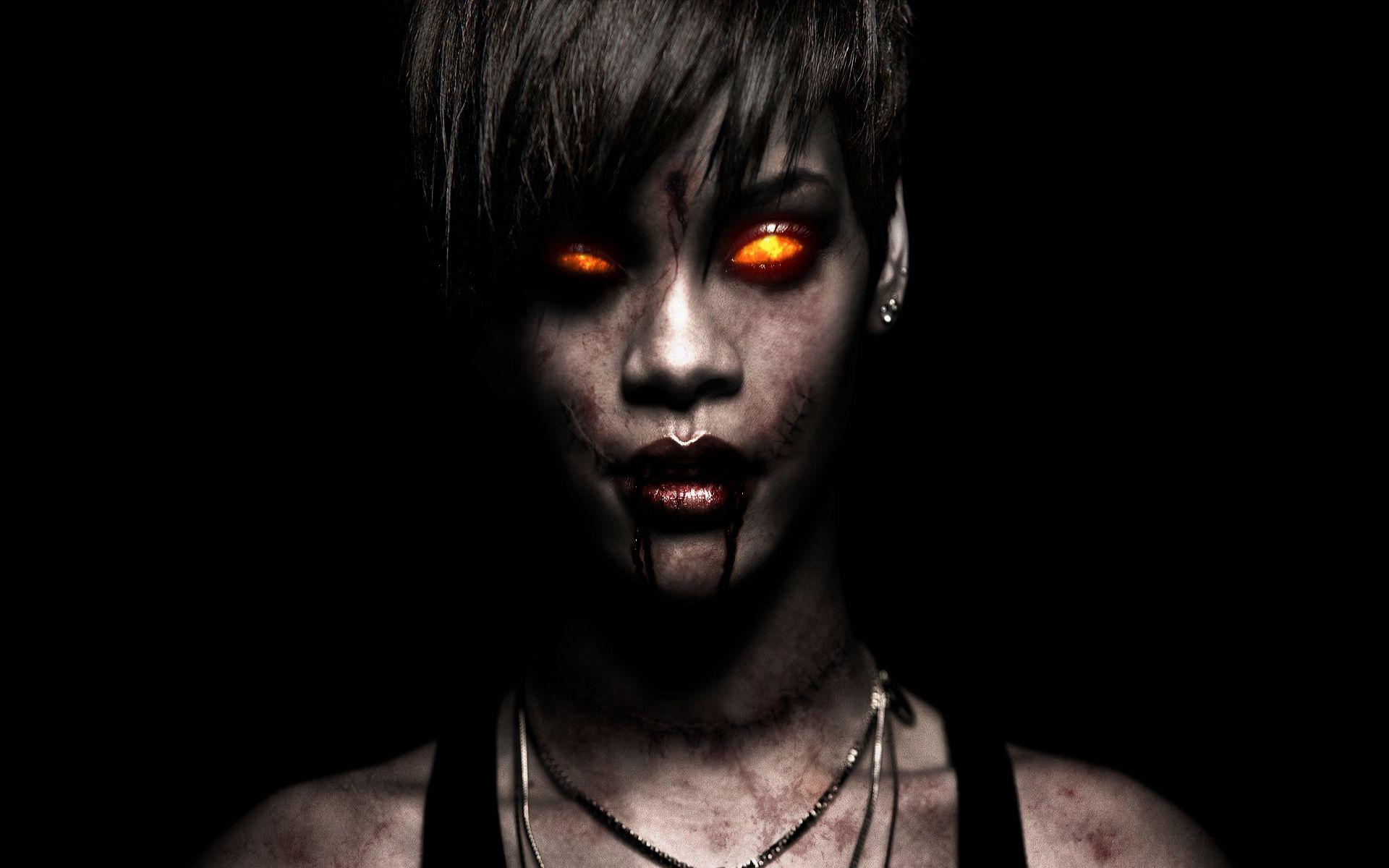 Beautiful Evil Evil Woman Hd Wallpapers Zombie Wallpaper