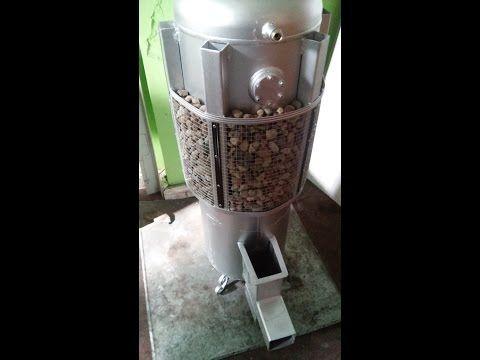 Piec rakietowy ANDRZEJ koza holzgas rocket stove heater - YouTube