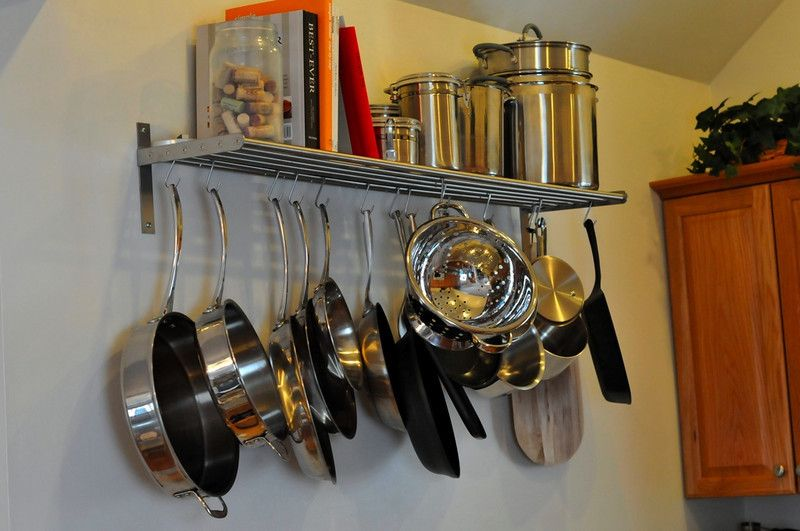 Ikea Grundtal Magnetic Spice Containers ~ hanging pot rack ikea  kitchen  Pinterest