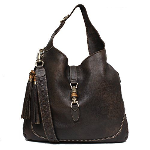 fd625f6be1b9 Gucci New Jackie Large Leather Hobo Shoulder Bag 218491, Brown ...