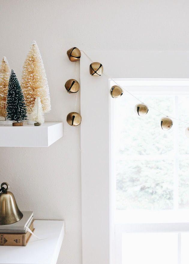 Jingle Bell Garland Diy Christmas Studio Jones Design Company Simple Christmas Decor Minimalist Christmas Decor Diy Christmas Garland