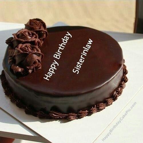 Happybirthdaycakepic Girls Birthday Wish Chocolate Rose Cake For Sisterinlaw