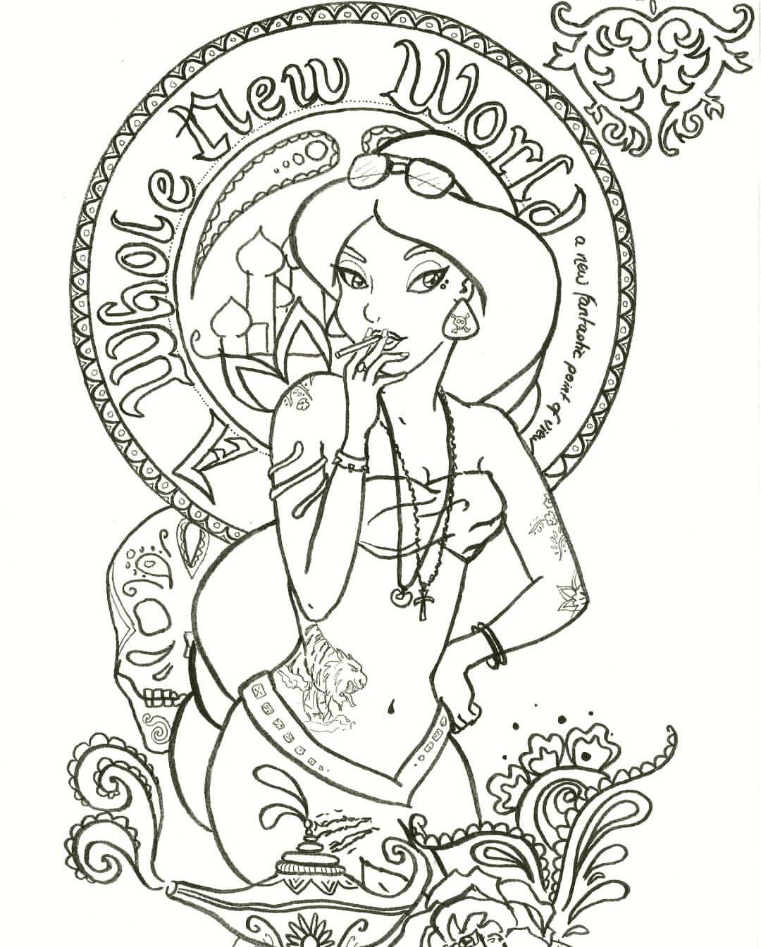 Pin By Verspultesprinzesschen On Disney Punk Aladdin Jasmine Disney Princess Coloring Pages Princess Coloring Pages Disney Coloring Pages