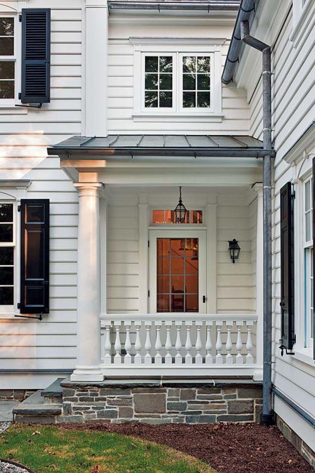 An Elegant New England Federal Exterior design, Garage