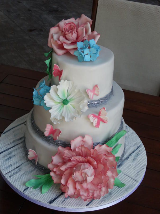 Colored cake by Liuba Stefanova Flower Cakes Pinterest Cake