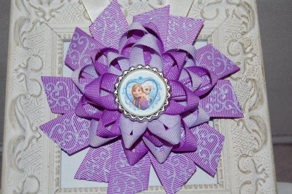 Frozen Bow by GirlyGoozBoutique on Etsy