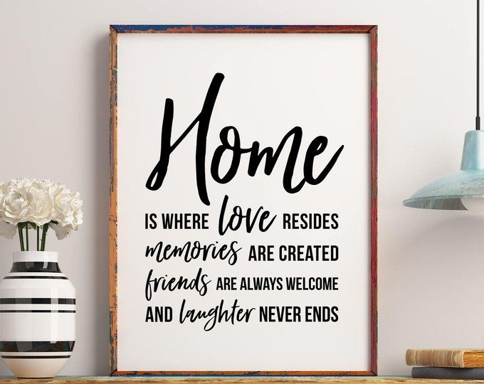 Home Is Where Love Resides Vinyl Wall Decal