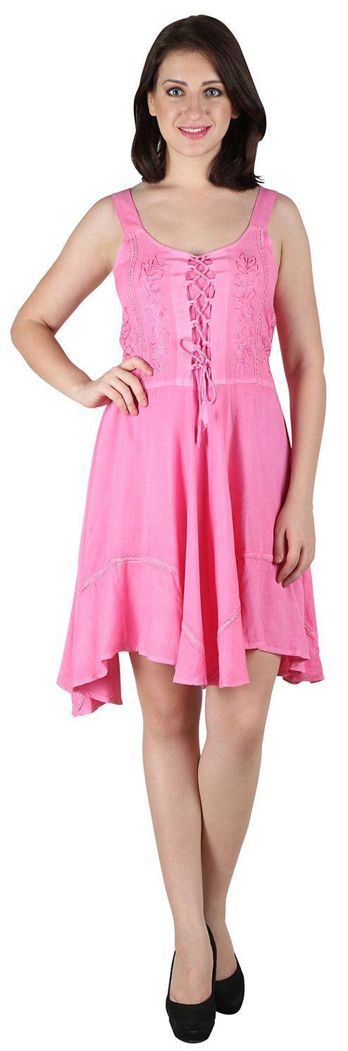 #2024AW-womens Stonewashed Embroidered Rayon Short Dress – Fashion Mode Inc.