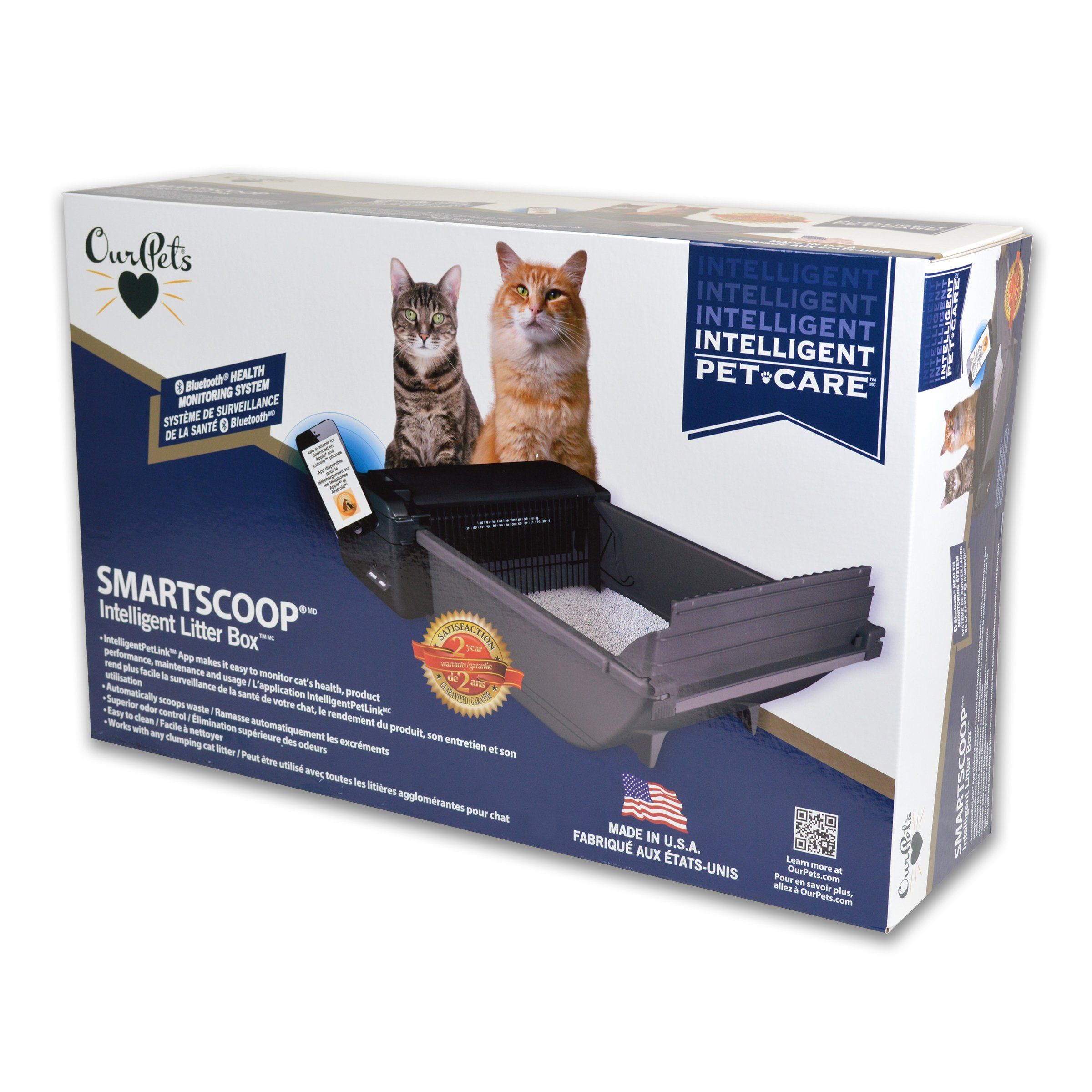 Our Pets Smart Scoop Intelligent Bluetooth Litter Box Self