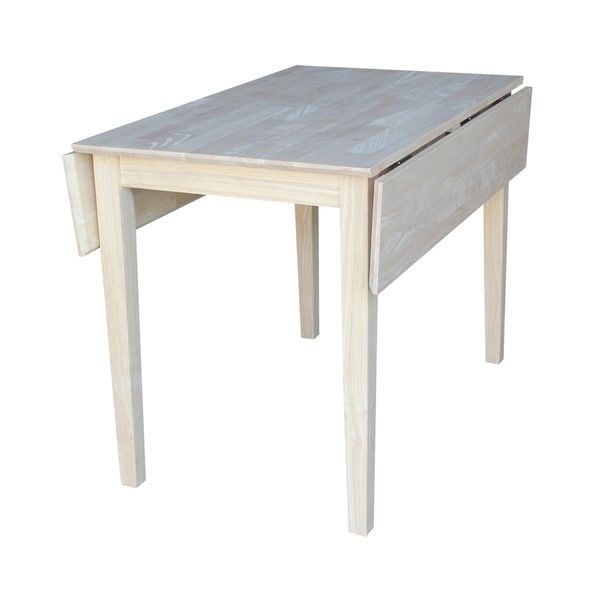International Concepts Dual Drop Leaf Square Dining Table