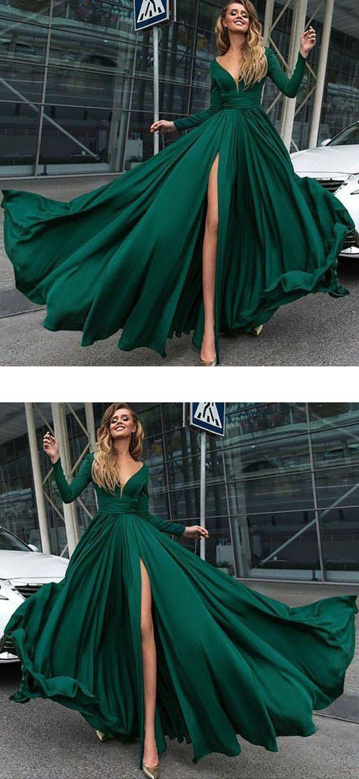 emerald green evening dress long - #dress #Emerald #Evening #Green