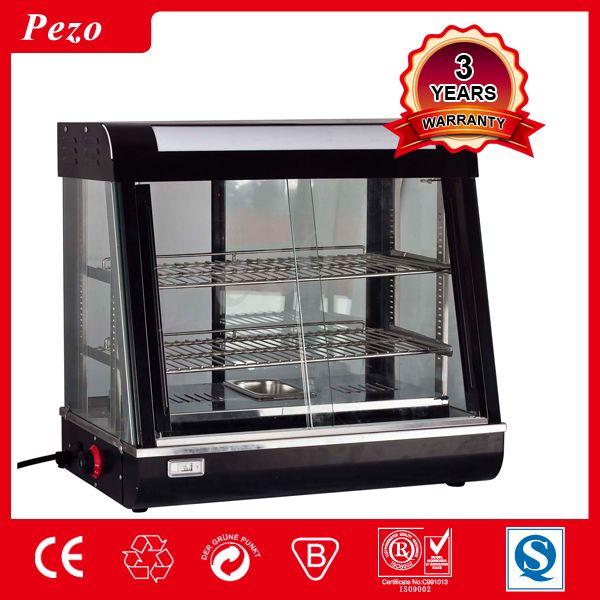 Pezo Counter Top Hot Food Display Warmer Snack Warmer Display Glass Food Warmer Display Showcase