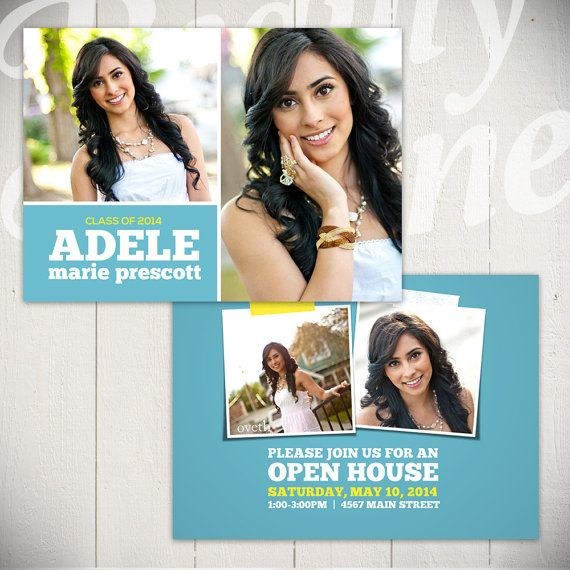Graduation Announcement Card Template: Shine On Card D - 5x7 Senior ...