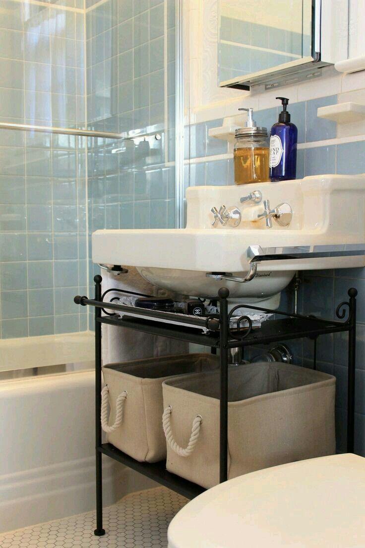 Pin By Maureen Gochett On Home In 2020 Pedestal Sink Storage
