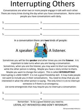 Friends Social Skills Worksheets Teaching Social Skills Social