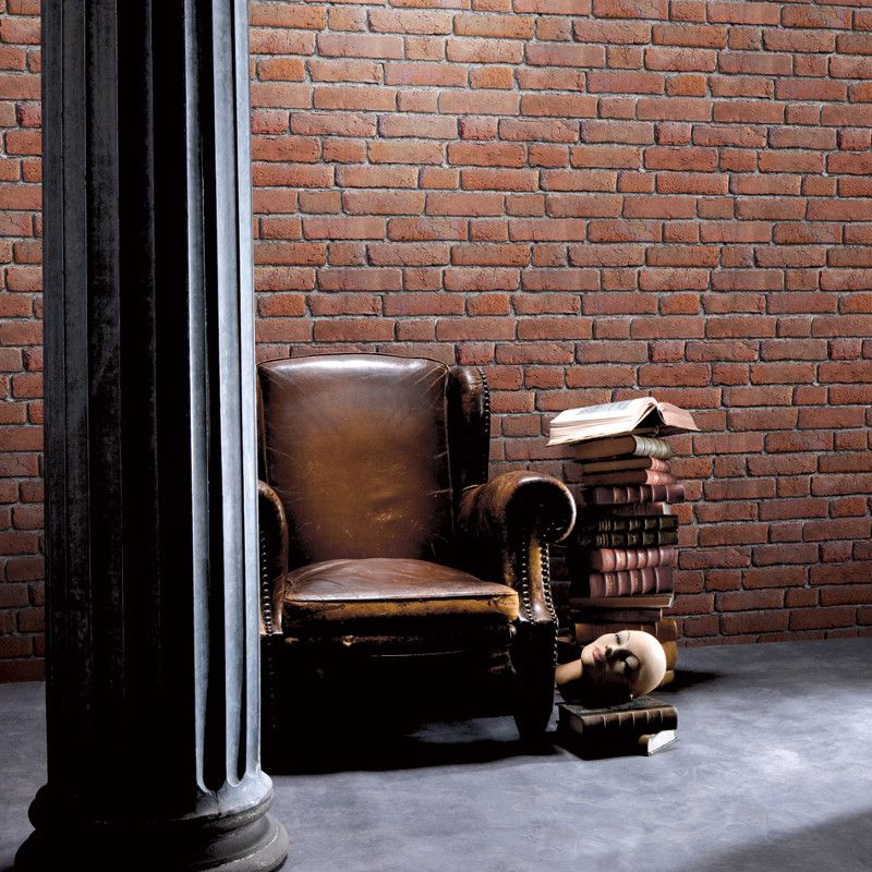 Muriva Brick 3d Effect Red Wallpaper Specially Designed To Add A Touch Of Character To Your Hom Brick Effect Wallpaper Brick Wall Wallpaper Red Brick Wallpaper