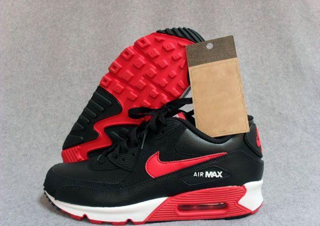 Nike Air Max 90 White Black Sport Red
