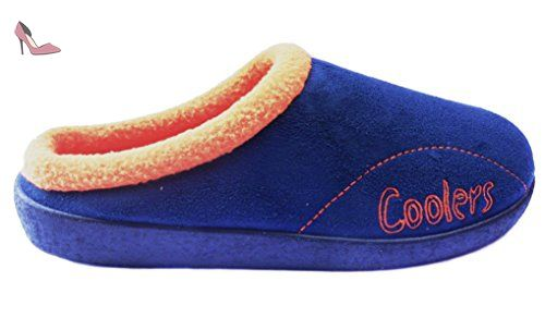 Coolers , Chaussons pour homme - multicouleur - Bleu marine/orange, 42 -  Chaussures