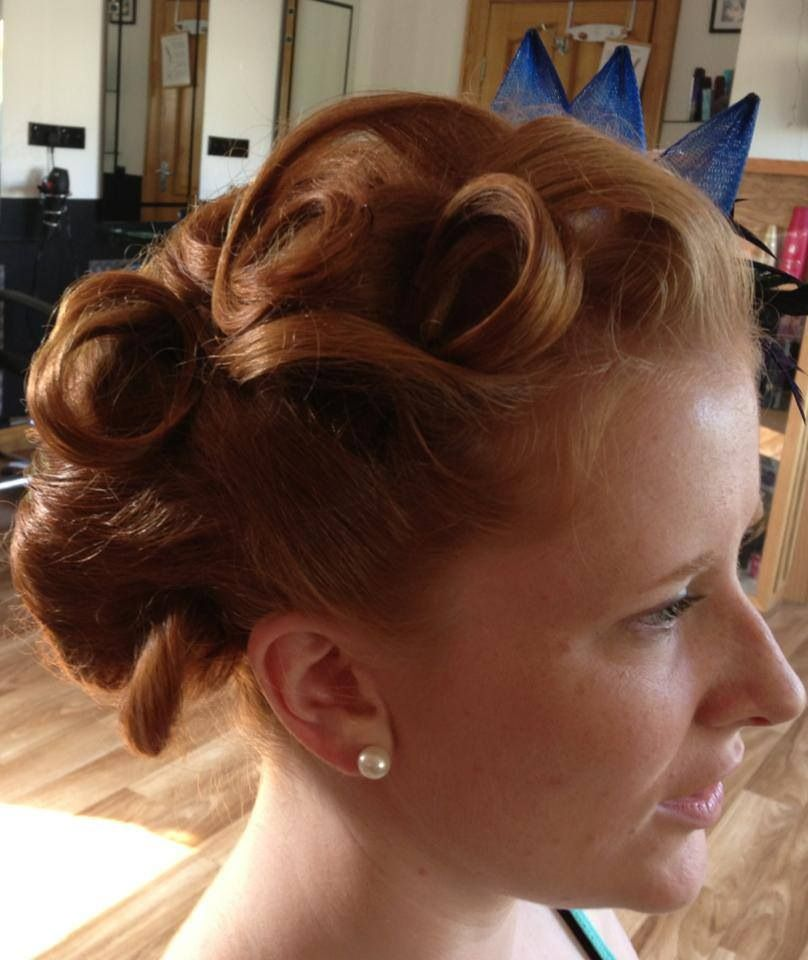 A lovely vintage upstyle by hairDOS, Churchill, Co. Donegal
