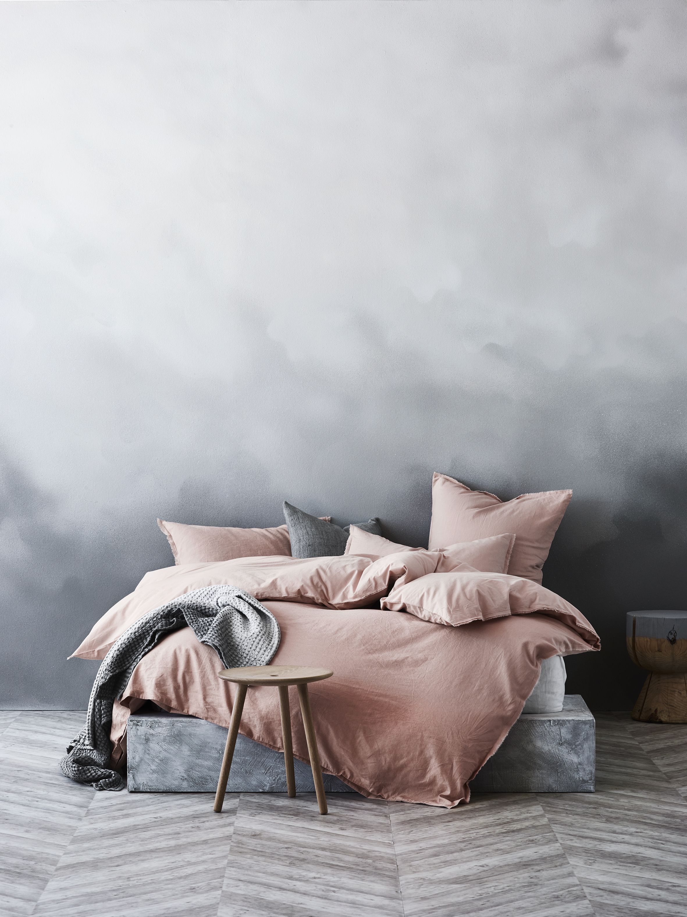 Good Maison Fringe Quilt Cover In Rose Dust, AURA Home, SS16 17 Collection
