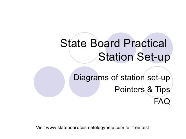 State Board Practical Set Up By State Board Cosmetology Help