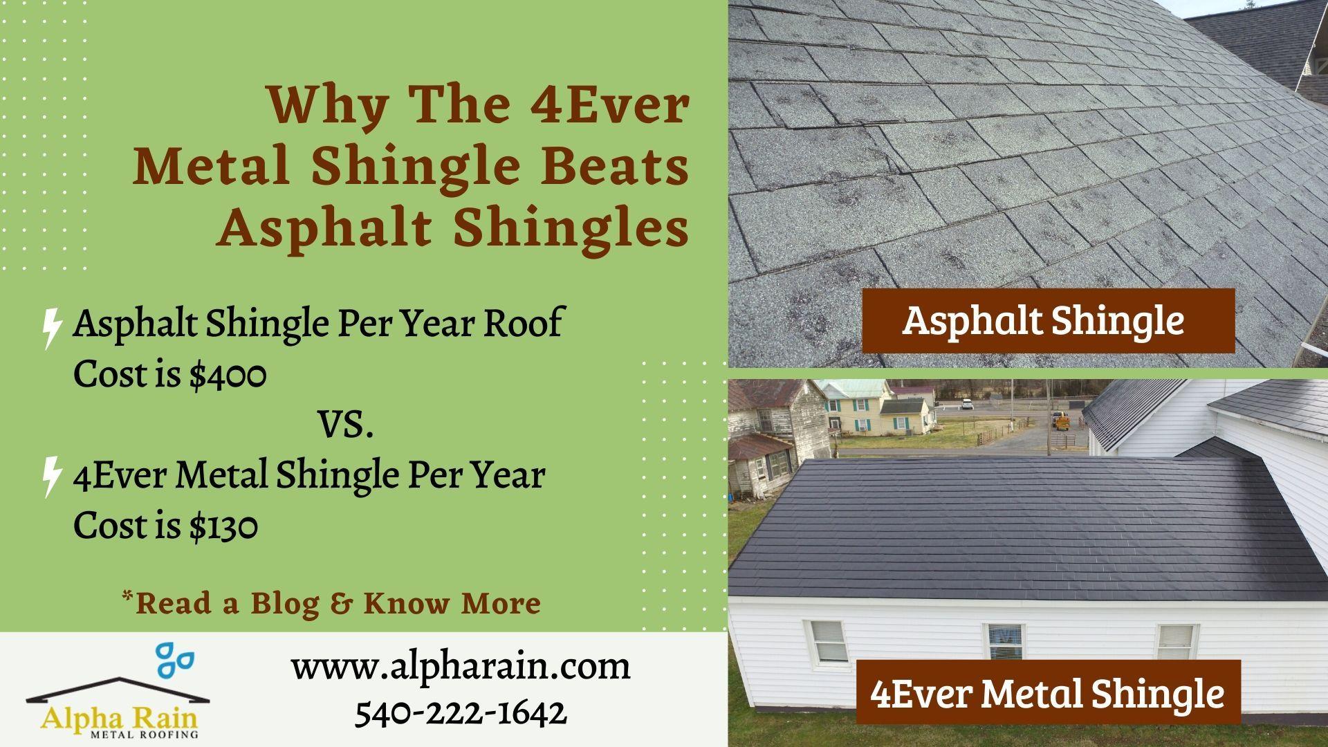 How 4ever Shingle Is Better Than Asphalt Shingles In 2020 Shingling Metal Shingles Asphalt Shingles
