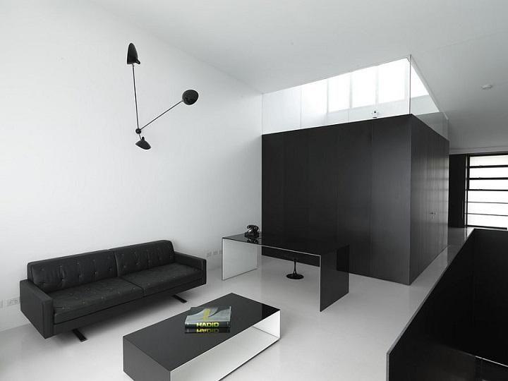 Schwarz und Weiß, Farben, um ein einzigartiges Büro zu machen ...