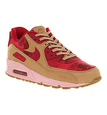 more photos 35860 97e43 ... Nike AIR MAX 90 LIBERTY PINK FLORAL NUDE Shoes - Nike Trainers - Office  Shoes ...