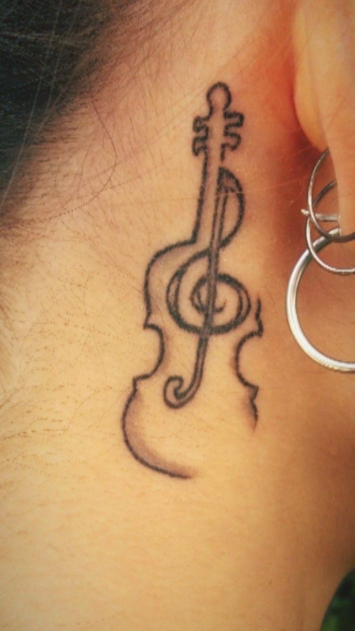 My Violin Tattoo Mariapap Violin Tattoo Smalltattoo Ear Piercing Trepleclief Music Musictattoo Violintattoo Small Tattoos Music Tattoos Violin Tattoo