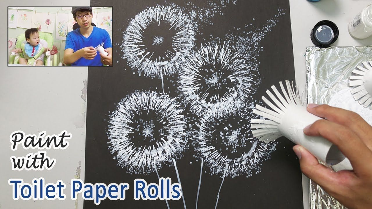 Toilet Paper Roll Painting Techniques for Beginner